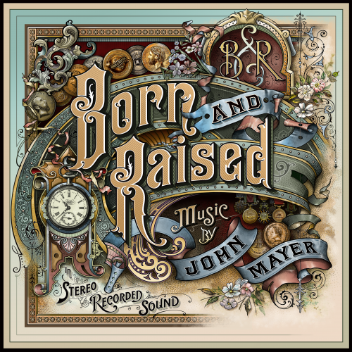 John Mayer's Born & Raised Album Cover by David Smith